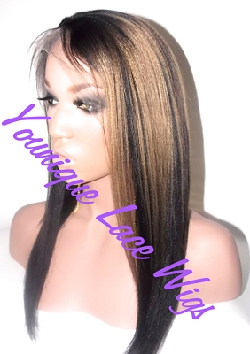 TWO TONE LACE FRONT WIG
