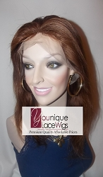 "12"" VIRGIN CHINESE FULL LACE WIG COLOR 4 MEDIUM CAP TRANSPARENT SWISS LACE 125% DENSITY SILK TOP"