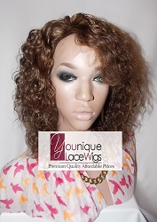 "10"" WAVY FULL LACE WIG COLOR 4 SMALL CAP TRANSPARENT SWISS LACE 150% DENSITY - THIN SKIN PERIMETER"