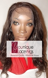 "16"" BODYCURL FULL LACE WIG COLOR 2 SMALL CAP TRANSPARENT SWISS LACE 125% DENSITY"