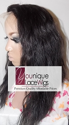 "14"" LOOSE WAVE FULL LACE WIG COLOR 1B MEDIUM CAP TRANSPARENT SWISS LACE 125% DENSITY"