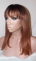 "14"" Getly Used Light Yaki Lace Front wig Color 2/30 Medium Cap -"