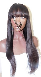 Lace Front Wig with Bang