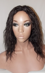 "10"" Wavy Full Lace Wig Color 1b Small Glueless Cap 100% Density"