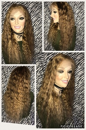 "16"" Natural Wave Full Lace Wig Color 27/4 Medium Cap 125% Density"