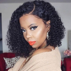 Kinky Curl Bob Lace Front Wig