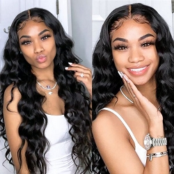 LOOSE BODY WAVE LACE FRONT WIG