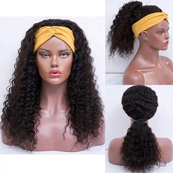 Head Band Wig ~ Deep Curly