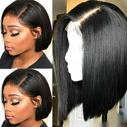 Bob Lace Front Wig 6 Inch Parting Space- Side Part